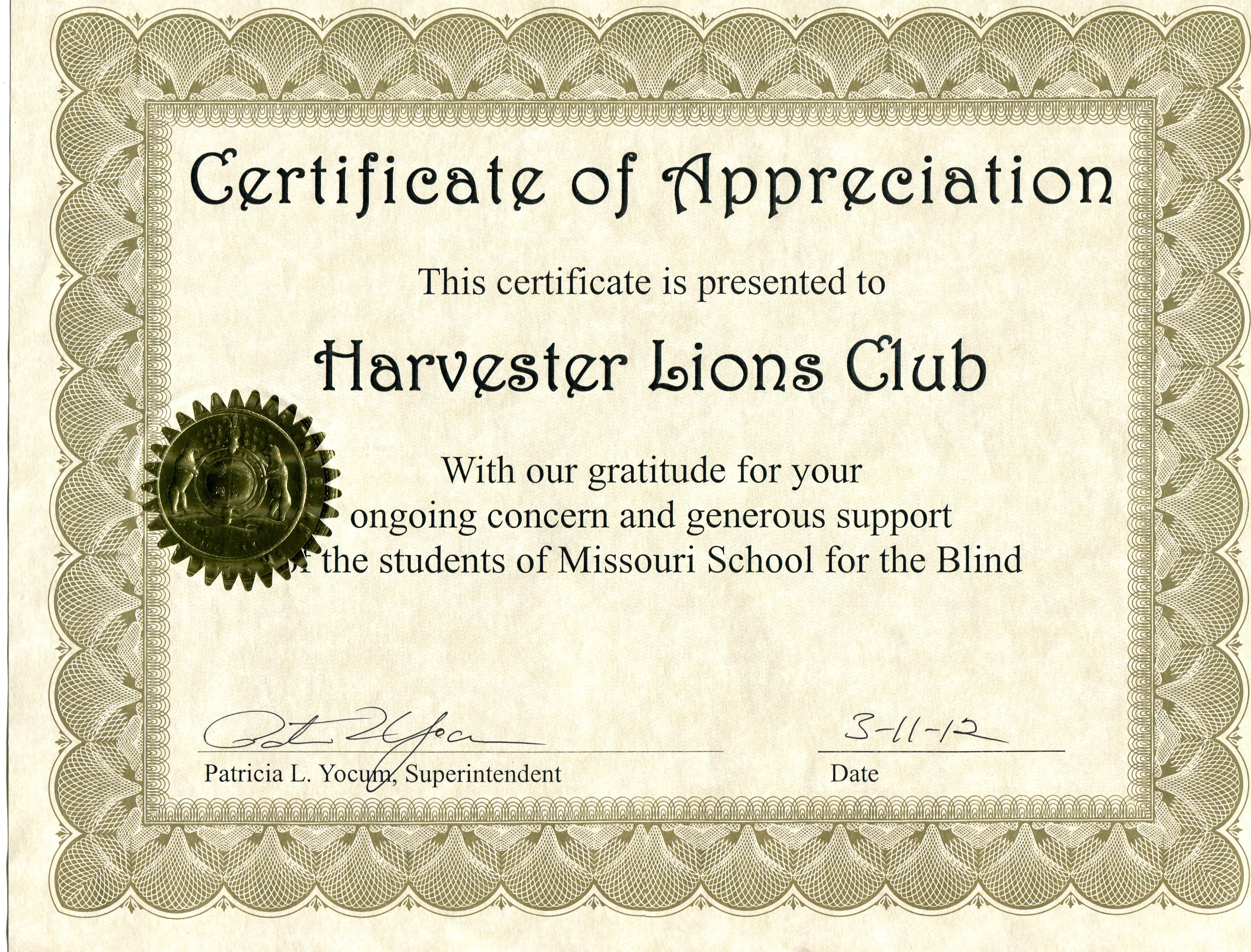 Community individual support harvester lions missouri school for blind xflitez Gallery